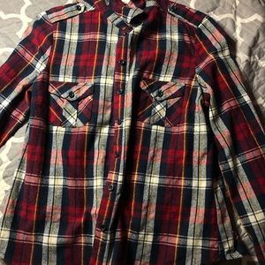 plaid flannel long sleeve